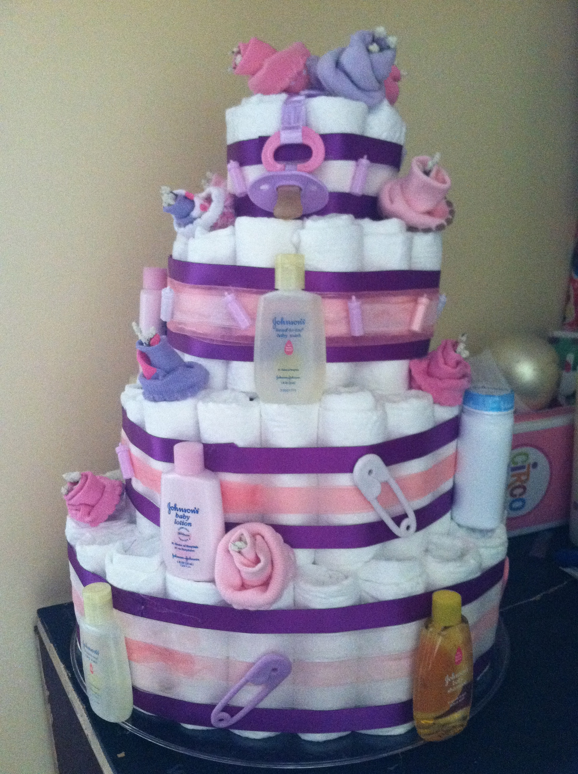 Baby Bottle Diaper Cake